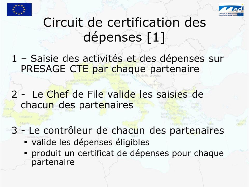 Circuit de certification des dépenses [1]